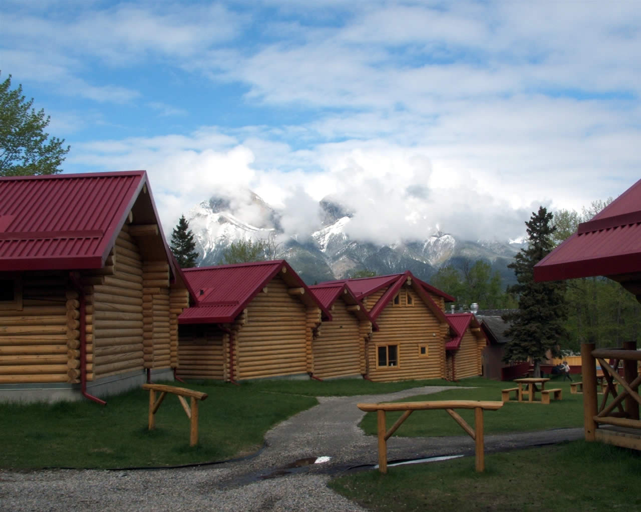 Bosche Range In Clouds As Seen From Pocahontas Cabins, Jasper National  Park, Alberta